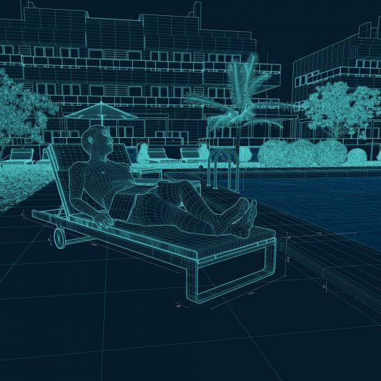 CGI Illustration Mesh 3D