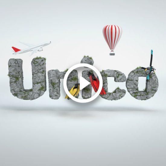 cgi typography, Animación tipográfica CGI Unico Santander