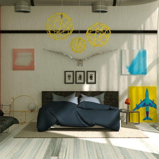 Studio Capicua cgi Architecture bedroom