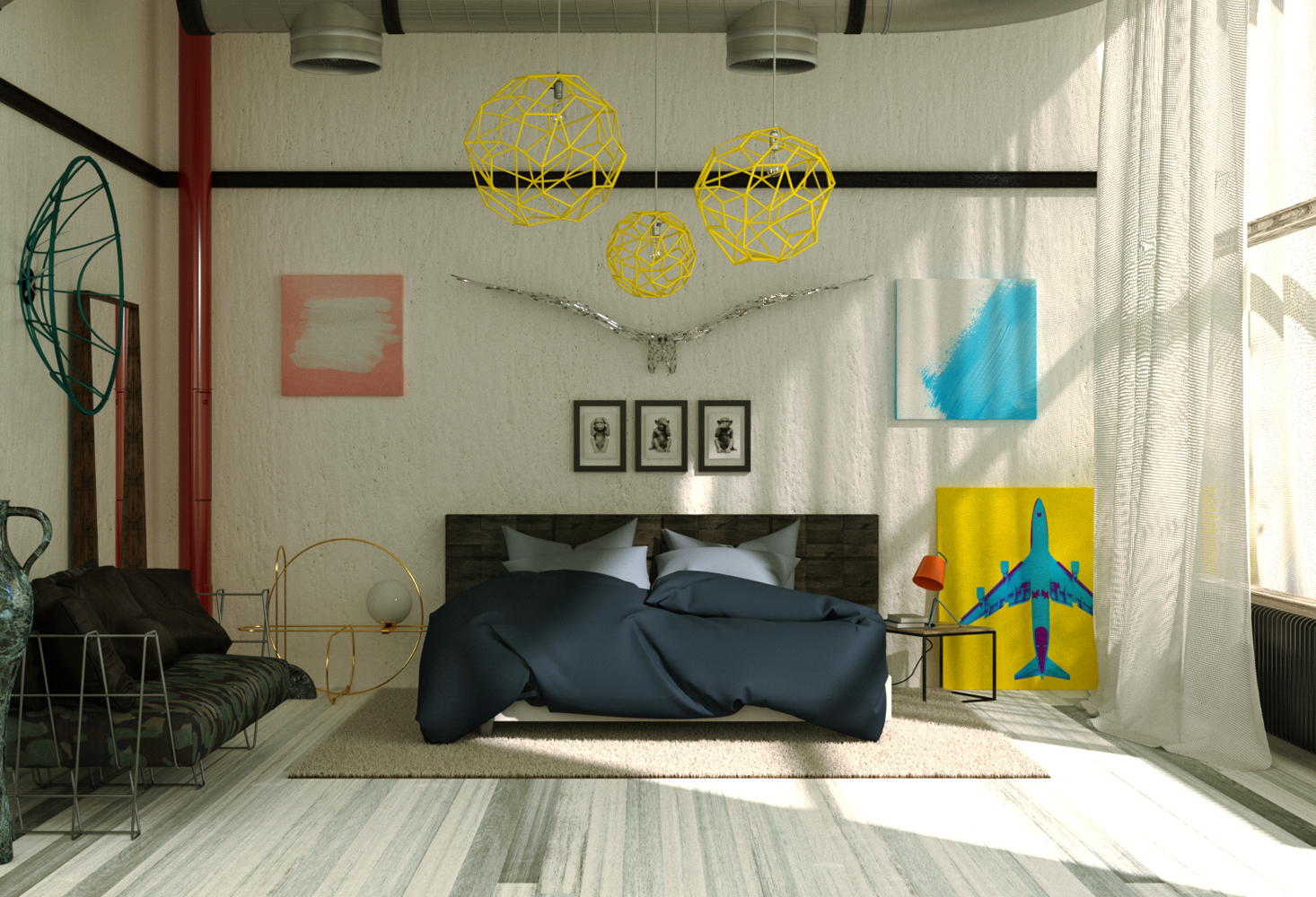 Studio Capicua cgi Architecture bedroom