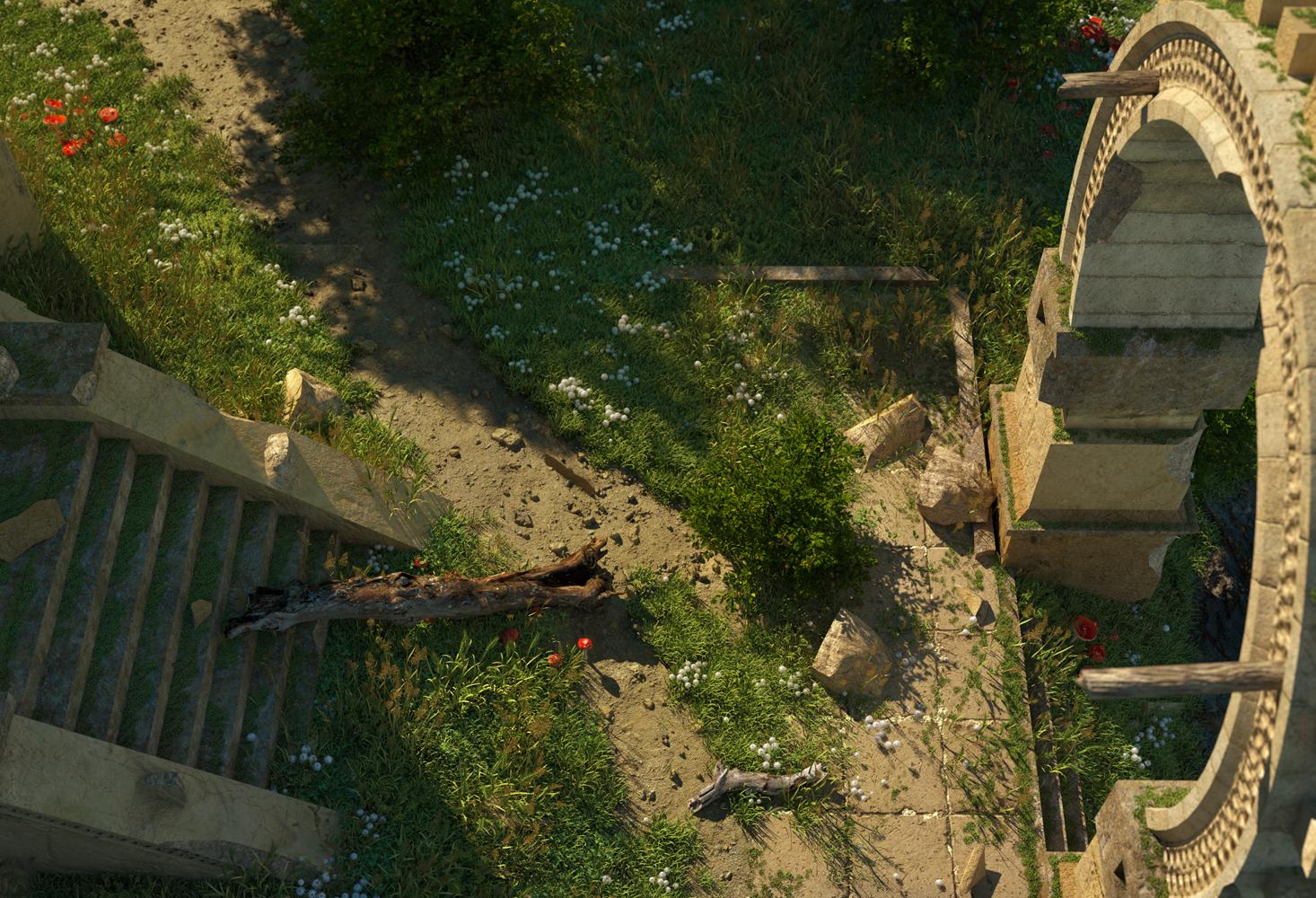CGI Island Landscape