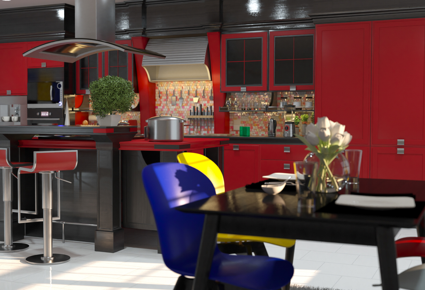 CGI Architecture Kitchen