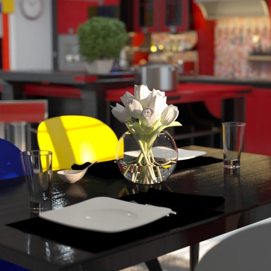 CGI Architecture Kitchen