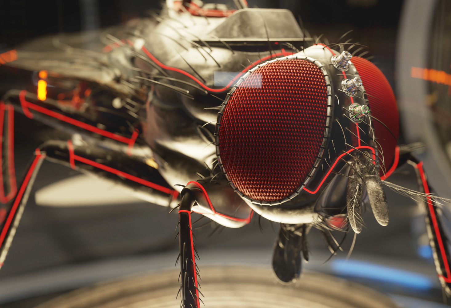 CGI Image | Electric Fly | Lab Creatures