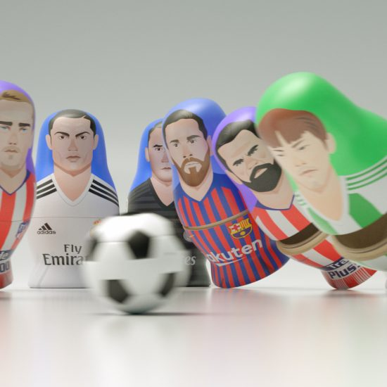 Matriuskas CGI La Liga football players