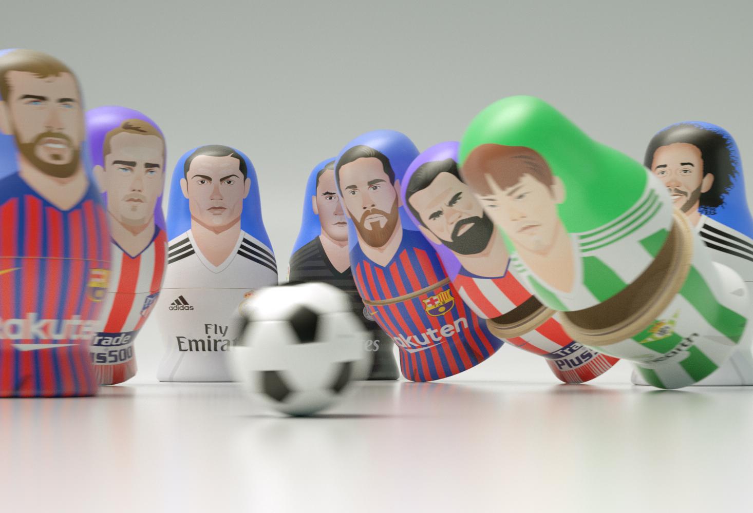 Matriuskas CGI La Liga football players