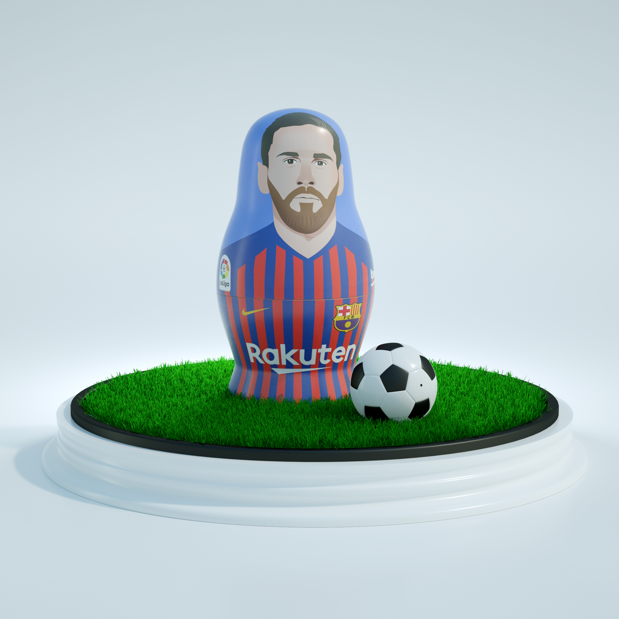 Matriuskas CGI La Liga football players Messi
