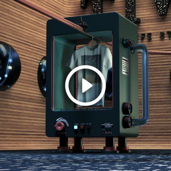 Animación CGI máquina