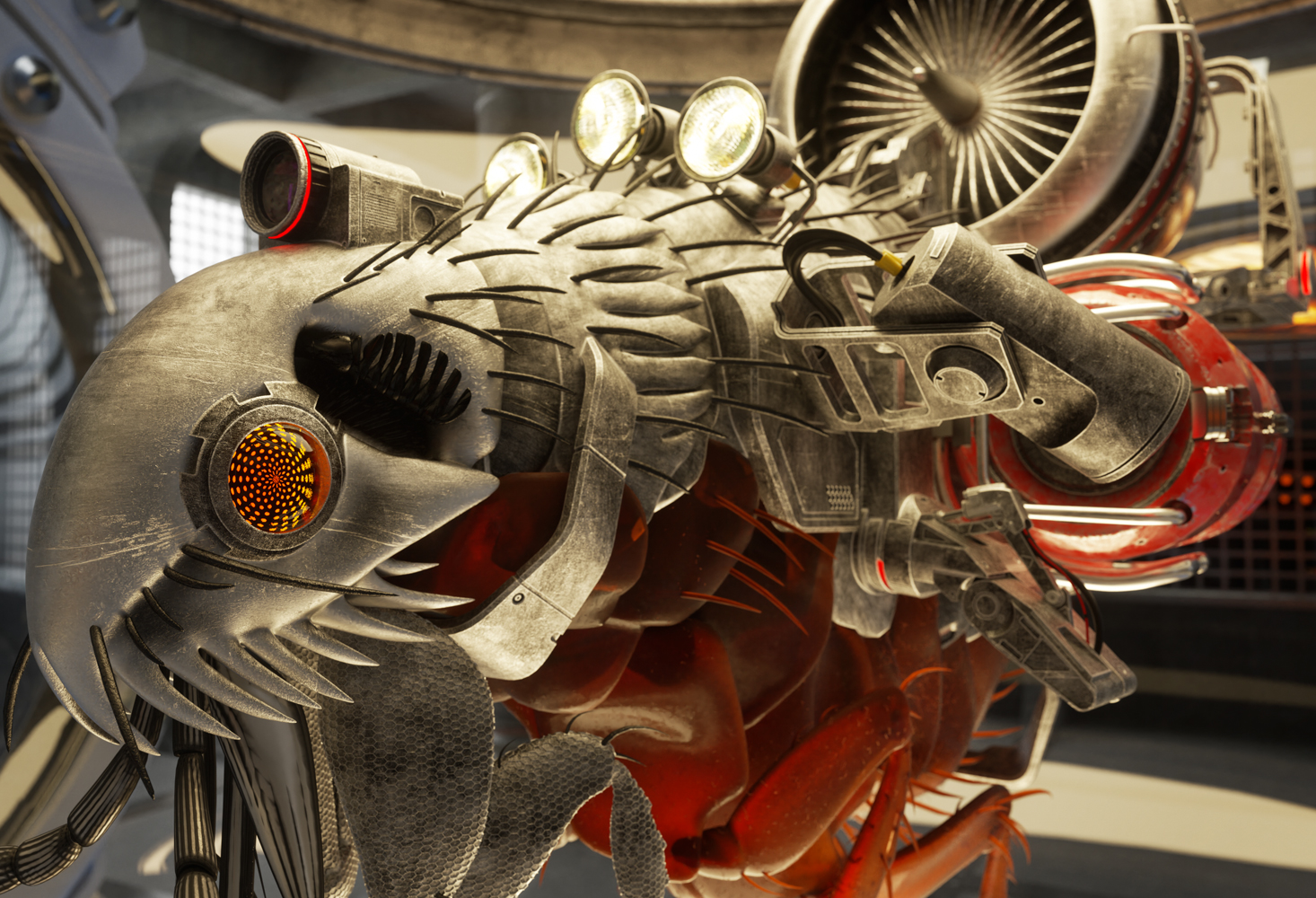 CGI Image   Turbo Flea   Lab Creatures