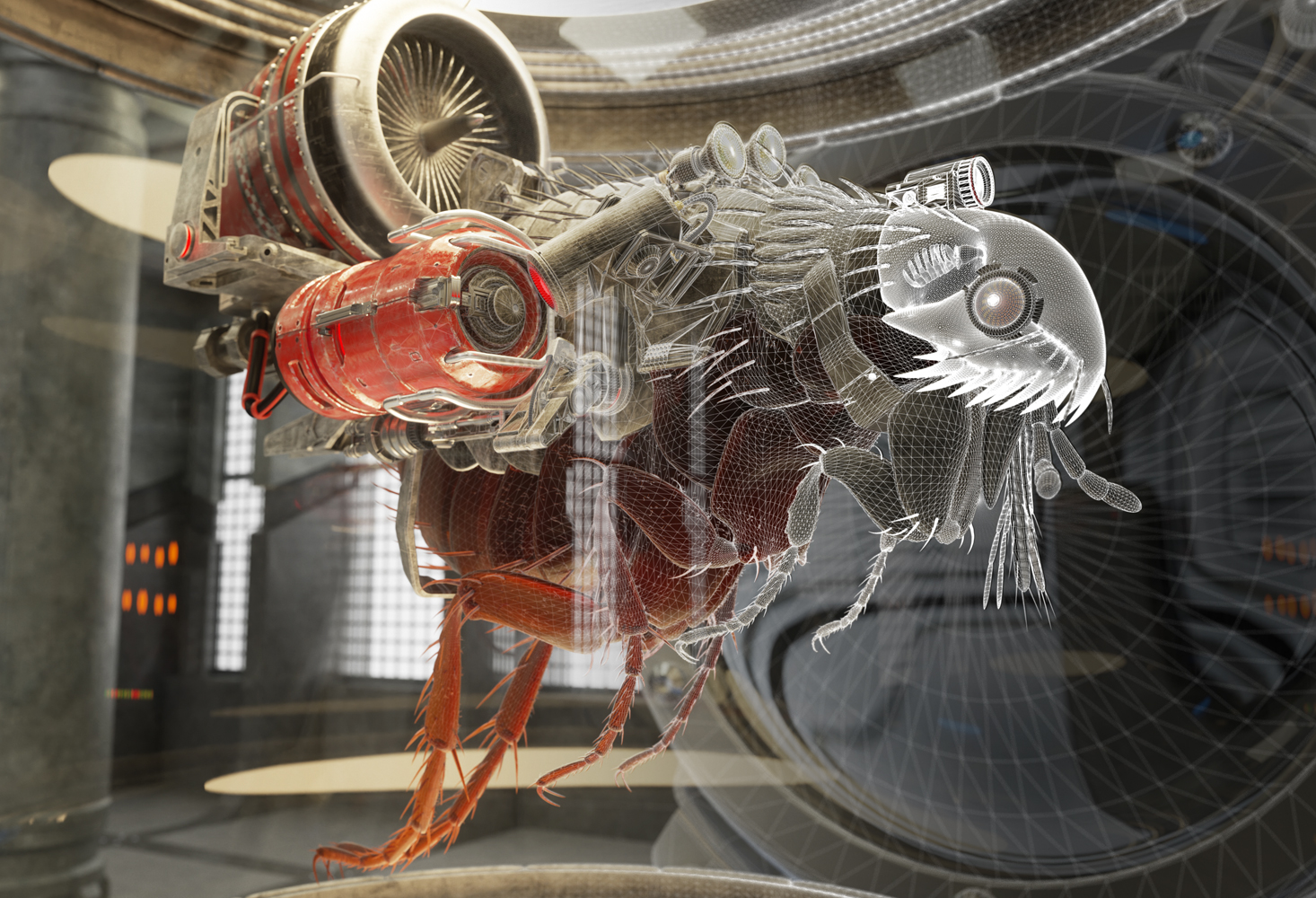 CGI Image | Turbo Flea | Lab Creatures